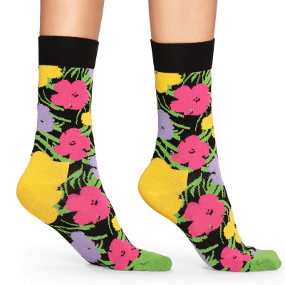 Foto van Happy socks Andy Warhol flowers AWFLO01-3000