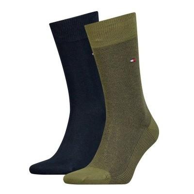 Foto van Tommy Hilfiger 2 pack heren sokken BIRDEYE 482004001 150 groen