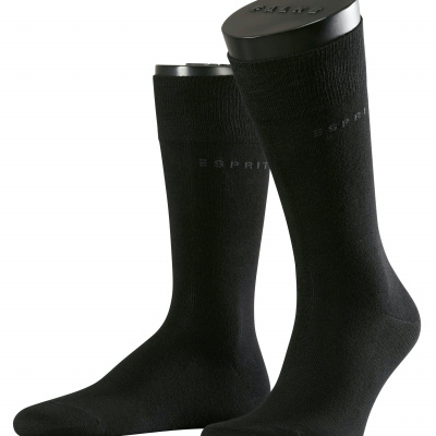 Foto van Esprit Basic Uni 2-Pack Heren Sokken art. 17811 BLACK