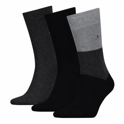 Foto van Tommy Hilfiger men sock promo 3 pack sokken 392999001 BLACK COMBO