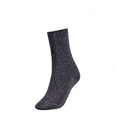 Foto van Tommy Hilfiger glitter sock womens 383016001 midnight blue
