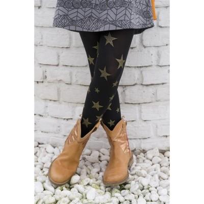 Foto van Bonnie Doon Twinkling Stars Tights BN553973 BLACK GOLD