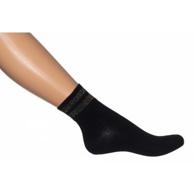 Foto van Bonnie Doon Gold Stripe quarter sock BN851114 black