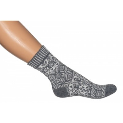 Foto van Bonnie Doon Nordic Sock BN851191 medium grey heather