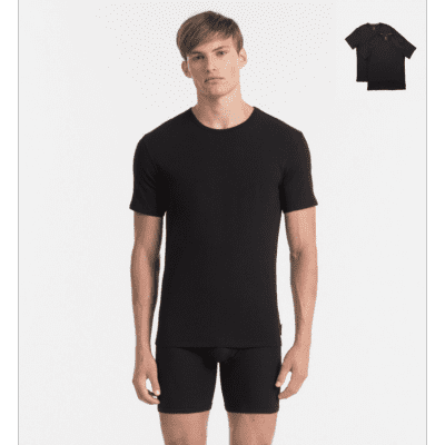 Foto van Calvin Klein NB1088A-001 2 pack crew neck t-shirts zwart
