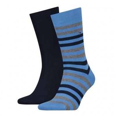 Foto van Tommy Hilfiger 2 pack heren sokken 472001001 017 palace blue