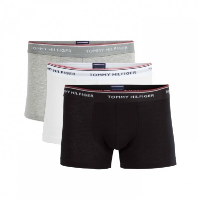 Foto van Tommy HilfigerTrunk 3 pack premium essentials 1U87903842 004 zwart/wit/grijs