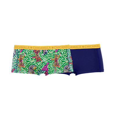 Foto van Muchachomalo ladies short 2-pack 1215TIGERX01