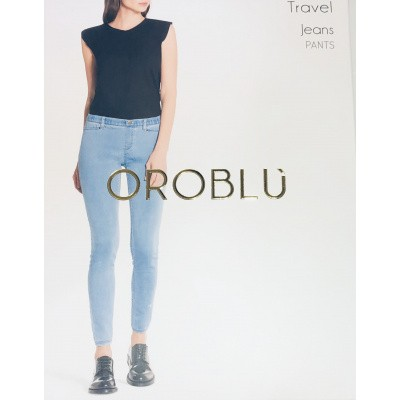 Foto van Oroblu TRAVEL JEANS PANTS BLUE INK