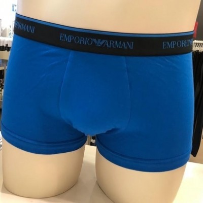 Foto van Armani 3 pack trunk strech cotton 111357 blauw