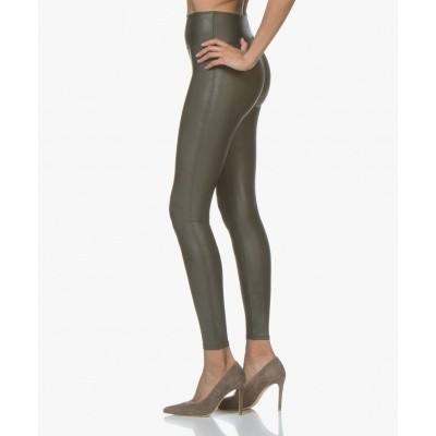 Foto van Spanx FAUX leather leggings 2437 Deep Olive 6600
