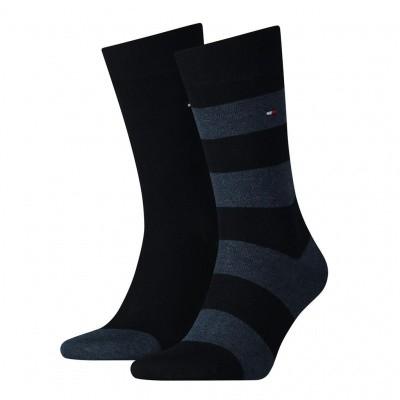Foto van Tommy Hilfiger 2 pack heren sokken 342021001 322 dark navy