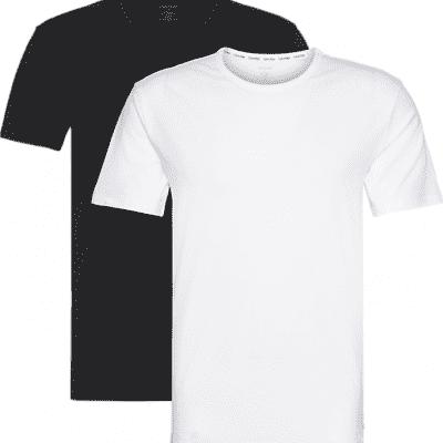 Foto van Calvin Klein NB1088A-WBI 2 pack crew neck t-shirts wit/zwart