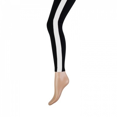 Foto van Marianne cotton fashion legging zwart-Ecru 20071