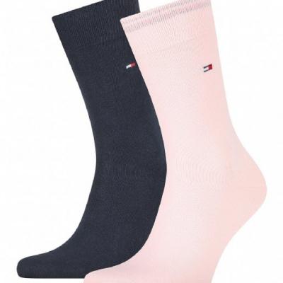 Foto van Tommy Hilfiger 2 pack heren sokken 371111 102 Classic PINK/BLUE