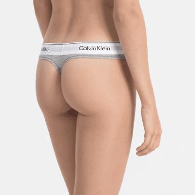 Foto van Calvin Klein string modern cotton F3786E grijs