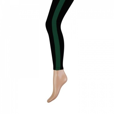 Foto van Marianne cotton fashion legging zwart-groen 20071