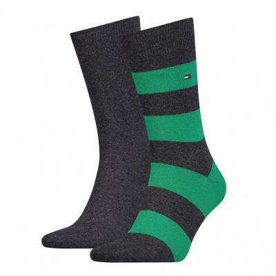 Foto van Tommy Hilfiger TH MEN RUGBY SOCK 2P BLACK/GREEN/GREY