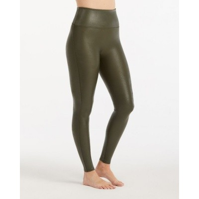 Foto van Spanx FAUX leather leggings 2437 Olive 6600