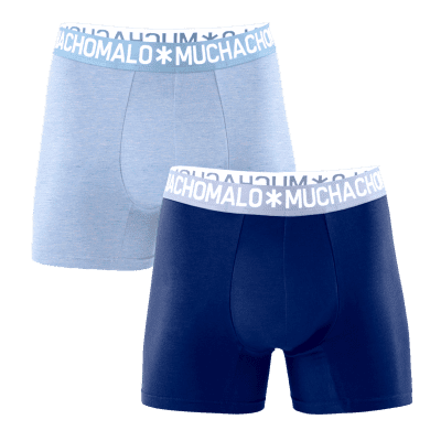 Foto van Muchachomalo FREEZER1132 2 PACK boxers lightblue/darkblue