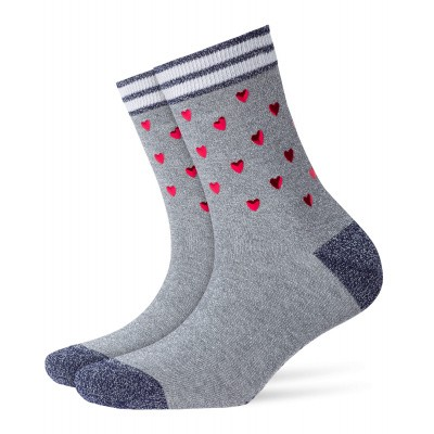 Foto van Burlington Valentines Rock Damen Socken 20690 light gey