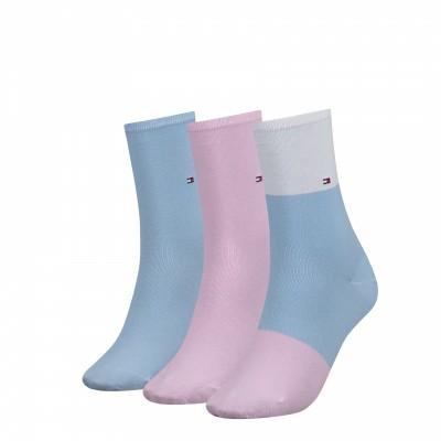 Foto van Tommy Hilfiger women sock promo 3 pack sokken 393999001 BLU COMBO