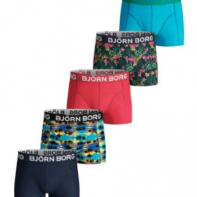 BJORN BORG 5 pack shorts BB SUNSET MINI & BB EXOTIC MINI