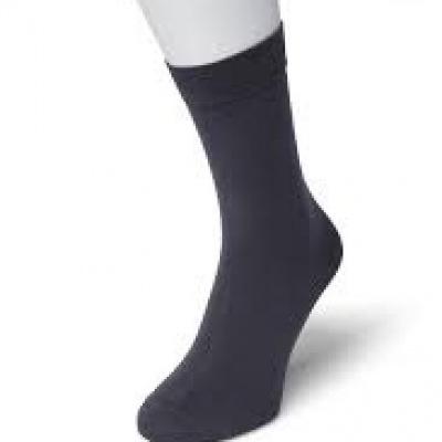 Foto van Bonnie Doon Cotton Socks 83422 DARK GREY HEATHER