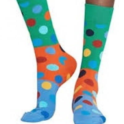 Foto van Happy socks BIG DOT BLOCK SOCK BDB01-7000