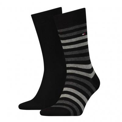 Foto van Tommy Hilfiger 2 pack heren sokken 472001001 758 middle grey melange