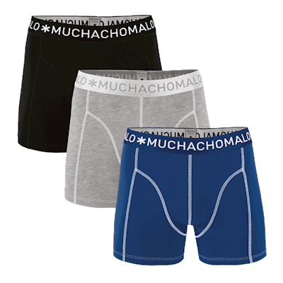 Foto van Muchachomalo boys 3 pack SHORT SOLID/SOLID/SOLID 1010JSOLID187