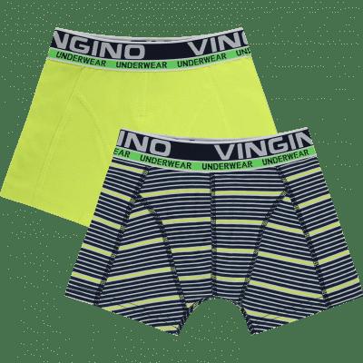 Foto van Vingino boys shorts 2-pack HS19KBN72601 STRIPED Dark Blue