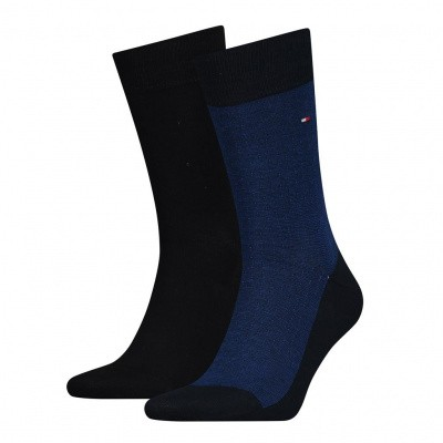 Foto van Tommy Hilfiger TH MEN MICRO JOEP SOCK 2P NAVY