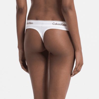 Foto van Calvin Klein string modern cotton F3786E wit