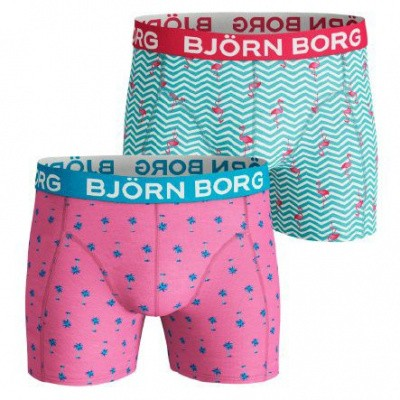 Foto van BJORN BORG SHORTS FOR HIM BB MINI PALMS & BB FLAMINGO STRIPE 2 PACK