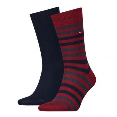 Tommy Hilfiger 2 pack heren sokken 472001001 845 tibetan red