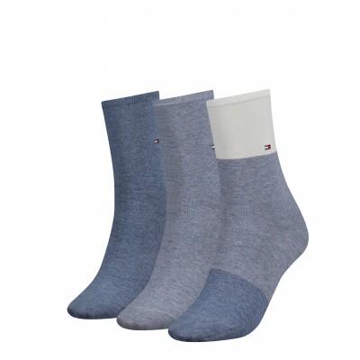 Foto van Tommy Hilfiger men sock promo 3 pack sokken 392999001 BLU COMBO