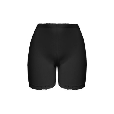 Foto van FINE WOMAN® 703-Black Lange Katoenen Boxershort met Kant BLACK