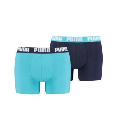 Foto van Puma 2 pack boxers AQUA/BLUE 521015001796010