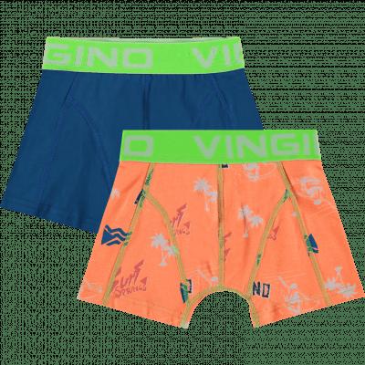 Foto van Vingino boys shorts 2-pack HS19KBN72602 SURF Light Grey Mele