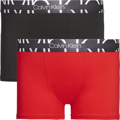 Foto van Calvin Klein boys 2PK TRUNKS B70B7002080KT zwart/rood
