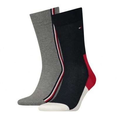 Foto van Tommy Hilfiger 2 pack heren sokken 471010001 085 043