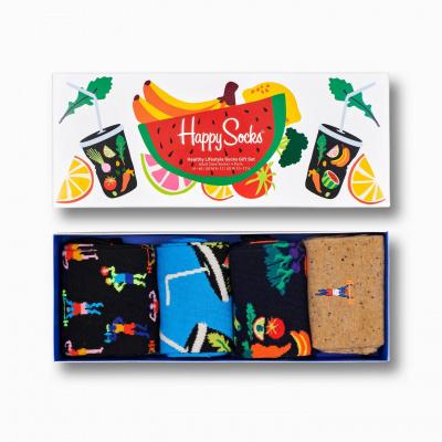 Foto van Happy socks Healty Lifestyle Socks Gift Boxe 4 pack XHEL09-0200