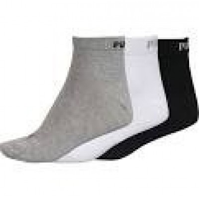 Foto van PUMA UNISEX QUARTER PLAIN 3P 271080001 882 grey/white/black