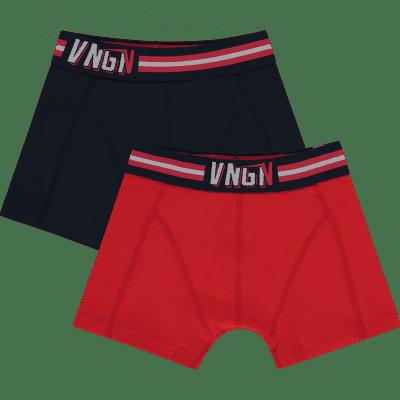 Foto van Vingino boys shorts 2-pack HS19KBN72604 PLAIN Dark Blue
