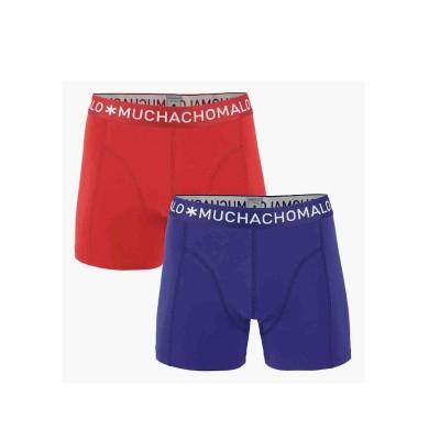 Foto van Muchachomalo 2 pack 1010 SOLID 298 RED/MELANGE BLUE