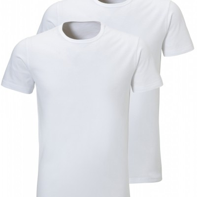 Foto van Ten Cate Men T-shirt 2 pack ronde hals 3778 wit