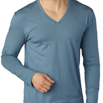 Foto van Mey heren shirt met lange mouw Art. Nr. 46520-639 / Style 87458 mountain blue