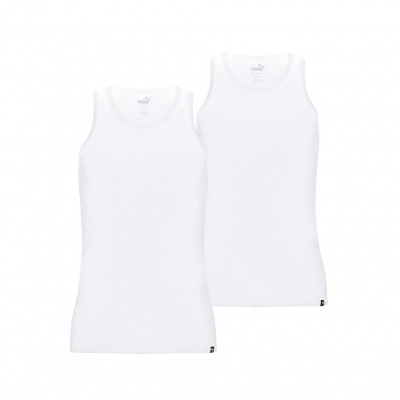PUMA BASIC 2P TANK TOP BLACK WIT