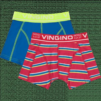Foto van Vingino boys 2 pack shorts SS20KBN72502 HERO classic red